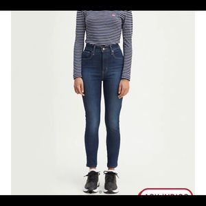 Levi's mile high super skinny jeans size 25 new